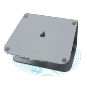 rain design mStand 360 アルミニウムアロイ製 ラップトップスタンド スペースグレイ